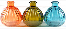 Set of 3 - Glass Bud Vases - B