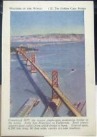 Vintage Cards Wonders of the World 12 Golden Gate Bridge Tally Sets