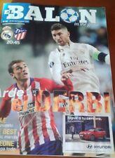 REAL MADRID V ATLETICO MADRID programme 29/9/2018 Liga Santander - El balón