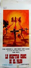 Poster Playbill The Four Crosses of El Paso Western Alberto Mariscal