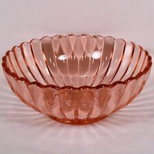 """Rare Pillar Fluted Pink 5 3/4"""" Berry Bowl by Imperial Glass Company No Reserve!"""