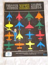 Wiggin Nickel alloys aeroplane jet engine parts brochure nimonic alloys