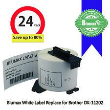 24 Blumax Shipping Label Refill Replace Brother DK11202-62x100mm QL500/QL720NW