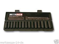 """metrinch impact 1/2"""" kraft-steckschlüssel long 15 pcs métrique Pouces met-2450"""