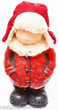 Dekofigur Winterkinder Winterdeko Weihnachtsdeko Figur Junge Weihnachten Keramik