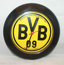 "Borussia Dortmund Bundesliga Soccer Wall Clock 25cm 9.75"" BVB 09 Tested Yellow"