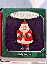 HALLMARK Keepsake Ornaments 1998 -Holly Jolly Jig Santa Miniature w/Original Box