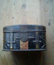 RARE  CARLEY OF NORWICH CONFECTIONERY MINIATURE TIN TRUNK