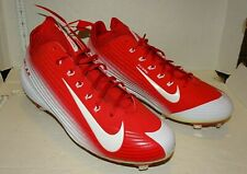 Nike Flywire Mike Trout Vapor BSBL Shoes Cleats Red White Size US 11 EUR 45 New
