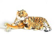 Grand Tigre en peluche  135 cm et son bébé  de Qualité   Très doux et Réaliste