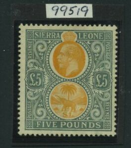 1912-21 Sierra Leone £5 SG 130 Mint LH Cat £4500