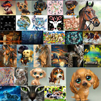 5D Diamond Painting Animal Embroidery Cross Crafts Stitch Kit Decor Art DIY Lots