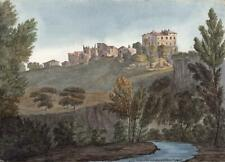ISOLA FARNESE ITALY Watercolour Painting ELIZABETH CAMPBELL 1825 - GRAND TOUR