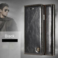 Luxury Leather Magnetic Flip Card Wallet Case Cover Skin For iPhone X 8 7 6 Plus