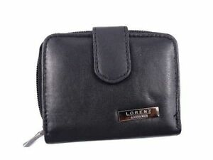 LADIES HIGH QUALITY SOFT BLACK REAL LEATHER PURSE CREDIT CARD HOLDER ZIP AROUND
