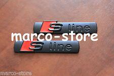 2 x Logo Fregio Stemma Emblema AUDI S LINE A1 A2 A3 A4 A5 A6 A7 Q5 Q3 Q7 metallo