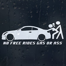 No Free Rides Gas Or Ass Funny Car Decal Vinyl Sticker For Window Bumper Panel