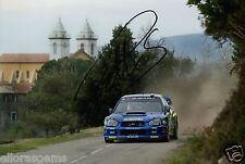 "Petter Solberg World Rally Champion 03 SUBARU IMPREZA HAND SIGNED PHOTO 12x8"" BU"