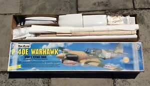 Top Flite P-40E Warhawk RC Scale Model Kit Gold Edition complete.