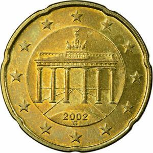 [#722943] République fédérale allemande, 20 Euro Cent, 2002, TTB, Laiton, KM:211