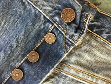 Men's Levis 501 Button Fly W34 L32 80's V Single Stitch Back Pockets Jeans