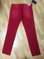 NWD Mens Armani Jeans SUMMER PANT P20CG Stretch Chino HOT RED Slim W34 L34 H6.5