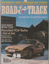 Road & Track Magazine June 1979 Porsche 924, Plymouth Fire Arrow, 1953 Pegaso