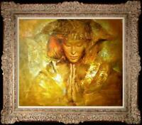 """Hand painted Original Oil Painting art Portrait Chinese girl on canvas 20""""X24"""""""