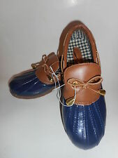 Merona Rubber Rainboots Shoe Blue Brown Rubber Natanni Womens Size 7 NWT