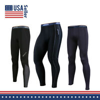 Men COOVY Sports Under Base Layer Workout Pants Tights Heat Cold Gear Armour