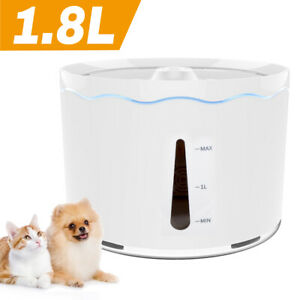 1.8 L Automatic Pet Water Fountain Electric Dog Cat Drink Dispenser with Filter