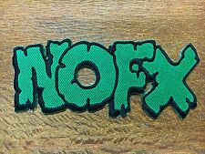 NOFX BAND LOGO PUNK MUSIC EMBROIDERED IRON ON PATCH