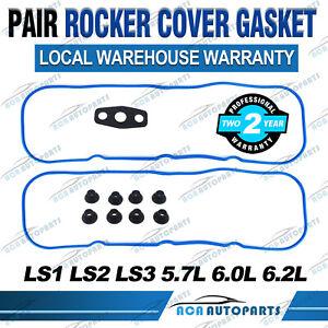 2x Rocker Cover Gasket For HOLDEN COMMODORE LS1 LS2 LS3 5.7L 6.0L VT VX VY VZ VE