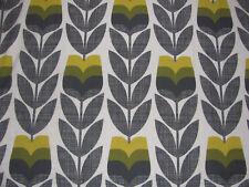ORLA KIELY Rosebud Scribble Corn Yellow FQ 50cm square lightweight Cotton New