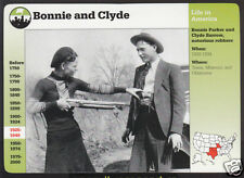 BONNIE PARKER AND CLYDE BARROW Grolier Story of America History Picture Card