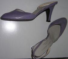 CHARLES JOURDAN Lamb Leather SHOES Slingbacks Pumps Lavender Purple Heels 7 Bag