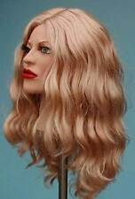 W319 Long Curly Nut Blond Wig with  Kanekalon Fibers