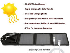 Opteka SP-10W Solar Panel Charger w/2 USB Ports with Lightning Cable for Apple