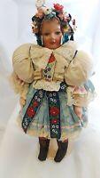 "Composition/ Cloth Hungary Doll Circa 1940's ?? 17"" Tall"