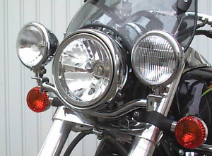 Fehling Motorcycle Light Mounting Bar For Kawasaki VN 800 A/B Classic / 1500 D/P