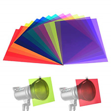 14 Pack Color Correction Light Gel Filter Sheet Colored Overlays Transparency