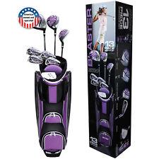 Ladies Beginner Golf Club Full Set Driver Woods Irons Putter w Lightweight Bag
