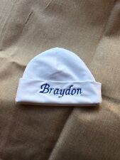 Personalized Baby Beanie Infant Hospital cap, infant hat. Embroidered