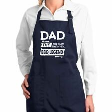 Dad The Man The Myth Bbq Legend Kitchen Cooking Apron with Pockets