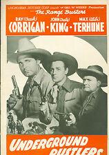 Underground Rustlers (1941)  Ray Corrigan, John 'Dusty' King,  western pressbook