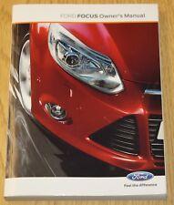 ORIGINALE Ford Focus principale Manuale Proprietari Manuale Navi AUDIO 2011-2014 LIBRO!!!