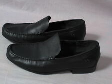 Men's Hush Puppies HPO2 Flex Boat Shoes Black Size 11 W Slip-on Leather