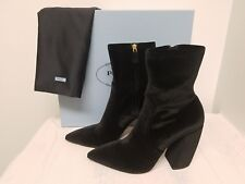 Prada Stretch-Velvet Zip 100mm Bootie Size -  9B / 39EU