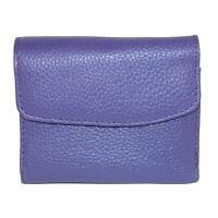 New Buxton Women's Leather Mini Tri-Fold Wallet