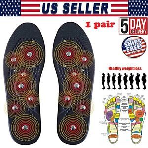 Magnetic Silicone Gel Insoles Weight Loss Slimming Arch Support Shoes Pads 1Pair